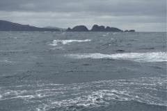 Der Seegang hat zugelegt. Es wäre schon nicht mehr möglich in der Caleta zu ankern.